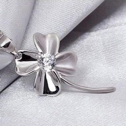Good Luck 4 Leaf Clover Necklace