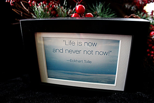 """""""Life is now and never not now!"""""""