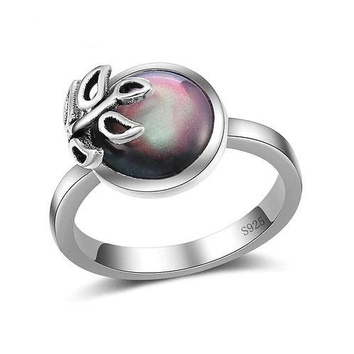 Overlay Leaf Mystic Ring