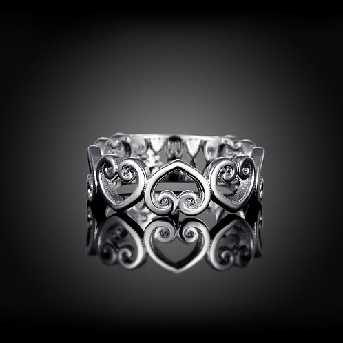 String of Hearts Ring