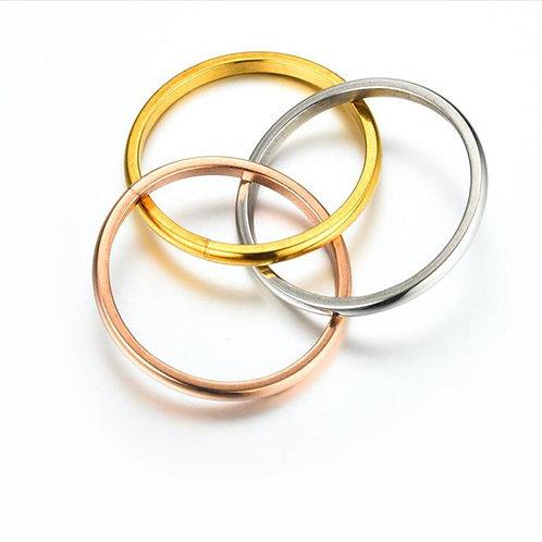 Narrow Band Tri-Colour Meditation Ring