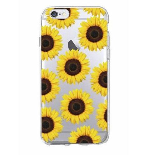 Cartoon Sunflower Clear Case