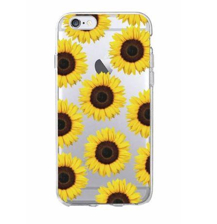 new concept 61720 a5025 Cartoon Sunflower Clear Case