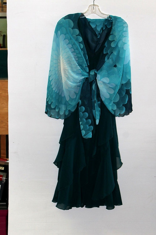 Flower Power - Teal Ombre Scarf Vest