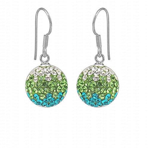 Groovy Ombre Sparkle Ball Earrings