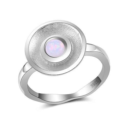 Fire Opal Bowl Ring