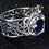 Thumbnail: Blue Spider Web Ring