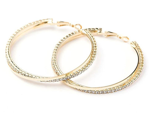 Large Sparkle Stainless Steel Hoops