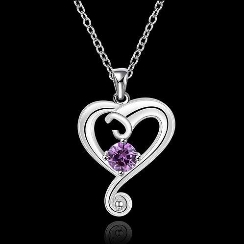 Spiralling Heart Purple