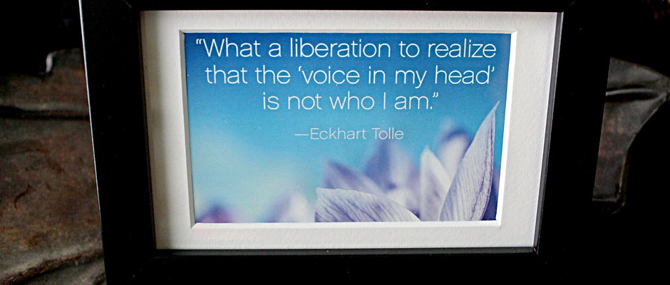 """What a liberation to realize..."""