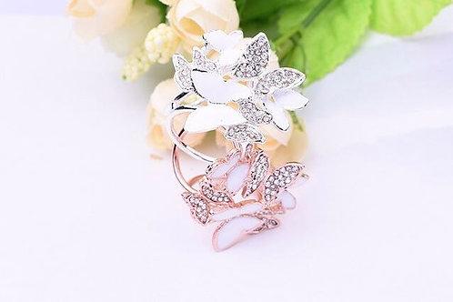 Butterflies Scarf Ring