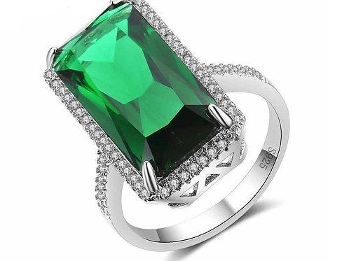 Long Emerald Ring