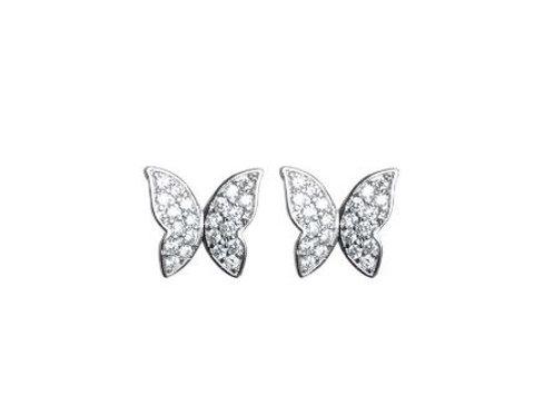 Pave Butterfly Studs