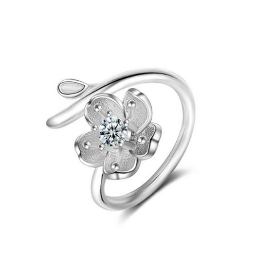 Flower & Branch Adjustable Ring