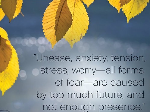 """""""Unease, anxiety, tension, stress, worry..."""""""