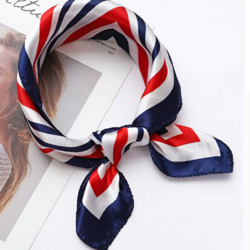 Red White Blue Accessory Square Scarves