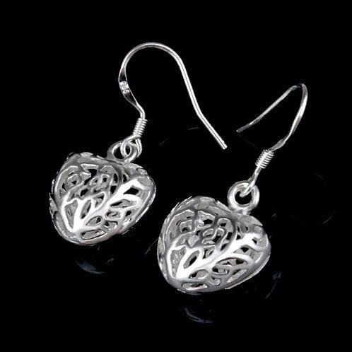 Tree Branch Heart Earrings