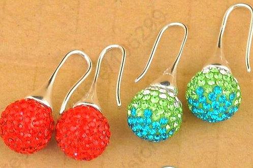 Trumpet Sparkle Ball Earrings