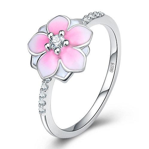 Pink Cherry Blossom Ring