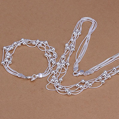 Round Silver Beads