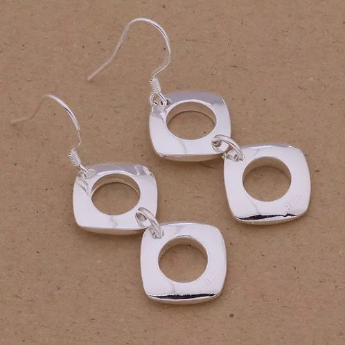 Diamond Peg, Round Hole Earrings