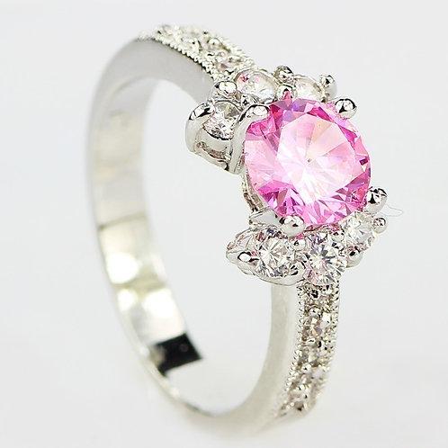 Lovely Pink October Birthstone Ring