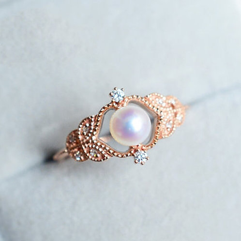 Suspended Pearl in Rose Gold