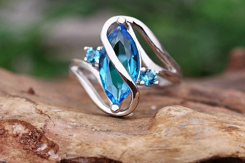 Turquoise S Shape Ring