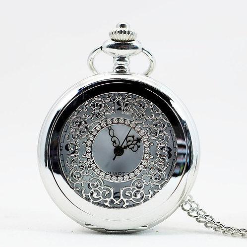 Silver Window Large Pocket Watch
