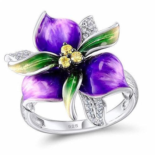 Purple Petunia Ring