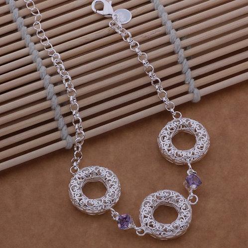 Intricate Heart Scroll Halos Bracelet