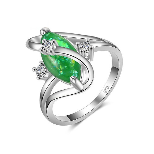 Green Fire Opal S Ring