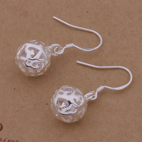 Heart Globe Earrings