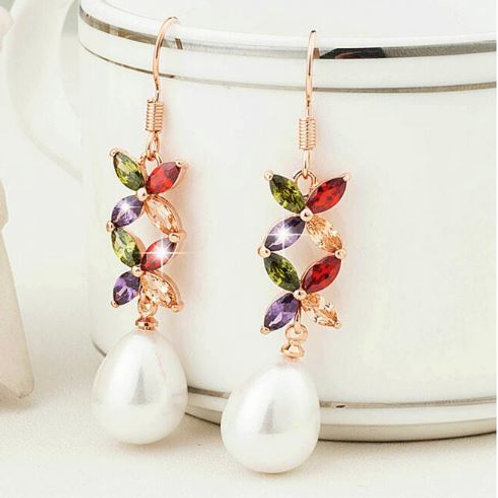 Double Rainbow Flower Pearl Drops