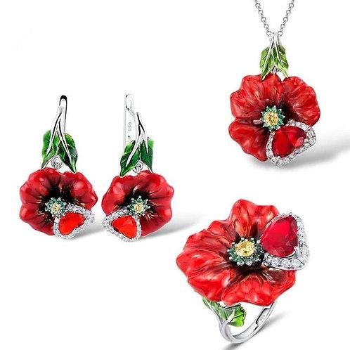 Red Poppy Love Set