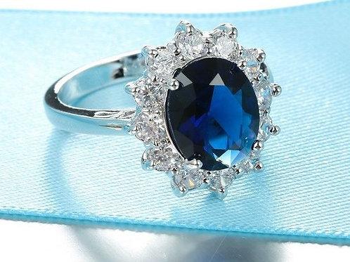Blue Princess Diana Ring