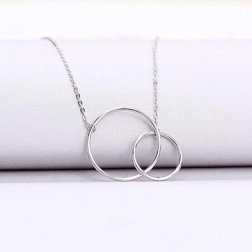 Irregular Linked Circle Necklace