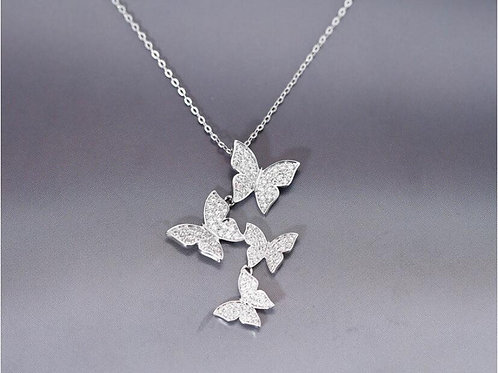Pave Butterfly Necklace