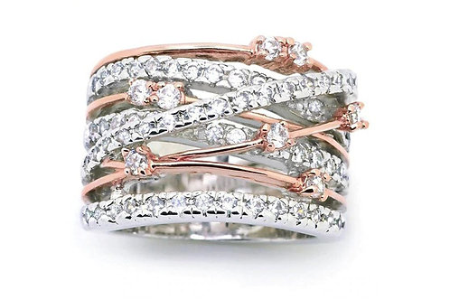Entwined Bands Ring