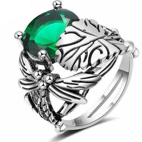 Green Dragonfly Ring