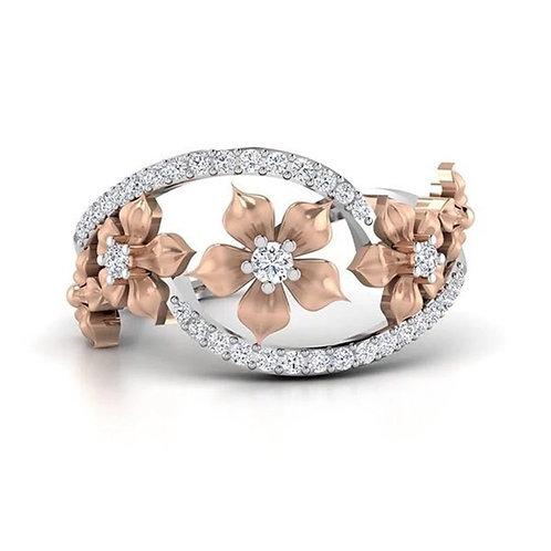 Rose Gold Flower Blooms Ring
