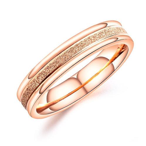 Banded Rose Gold Ring