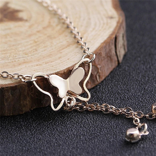 Butterfly Drop Stones Anklet