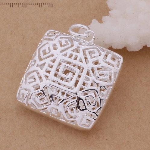Maze Geometric Necklace