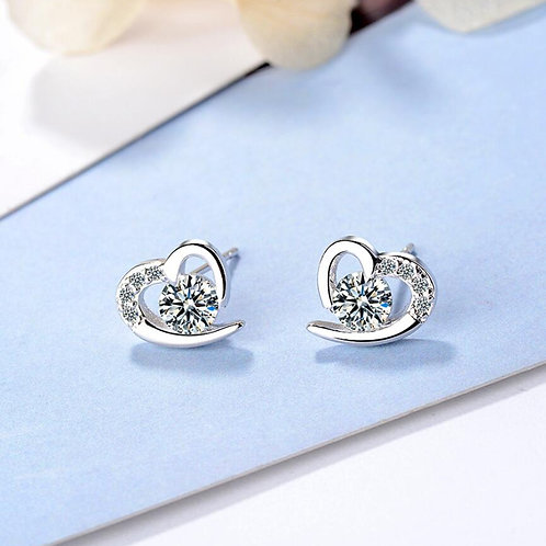 Sparkly Heart Studs