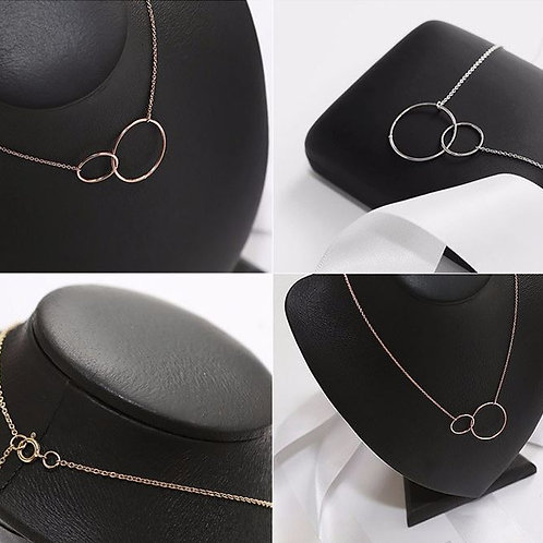 Two Circles Joined Necklace