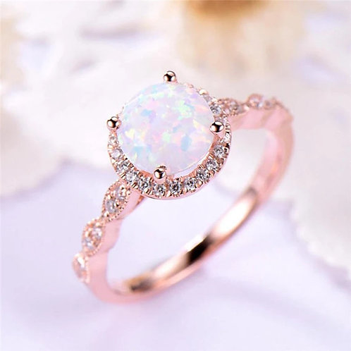 Rose Gold Round Opal