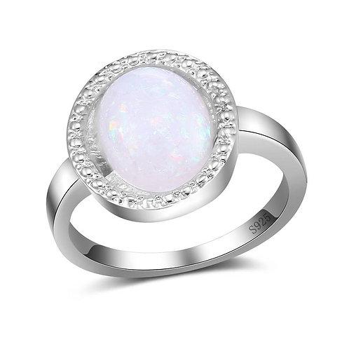 Haloed Opal Ring
