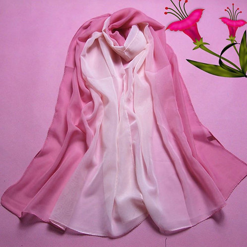 Rouge Pink Ombre Scarf