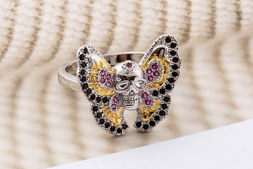 Butterfly Skull Ring